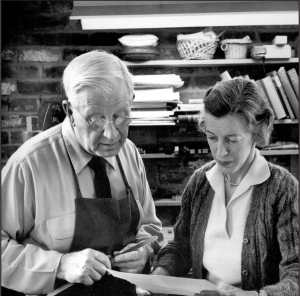 Here Victor and Carolyn Reading Hammer confer over a project.
