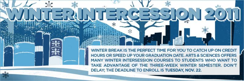 winter intercession poster