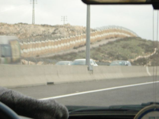 443 Separation barrier on the left.